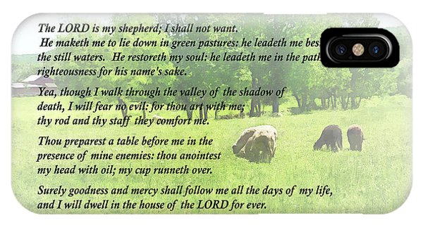 Psalm 23 The Lord Is My Shepherd IPhone Case