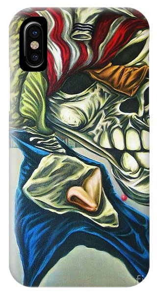 Pseudo-archaic Portrait Of An Imaginary Hometown Hero During A Slow Process Of Decomposition IPhone Case