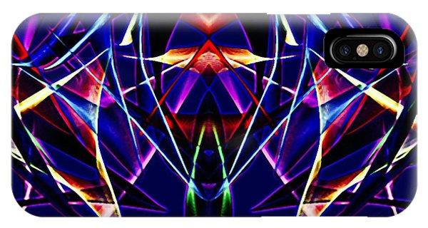 Psychedelic Bat N Wings IPhone Case