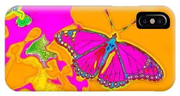 Psychedelic Butterflies IPhone Case