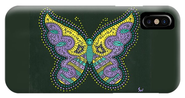 Psychedelic Butterfly IPhone Case