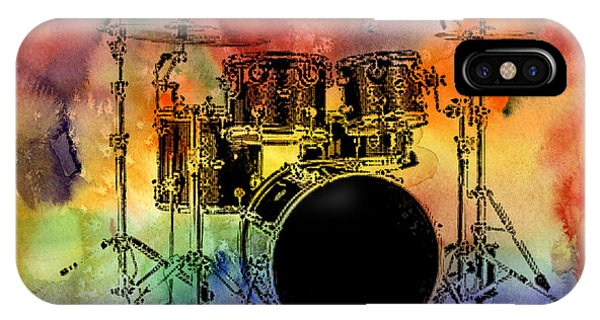 Psychedelic Drum Set IPhone Case