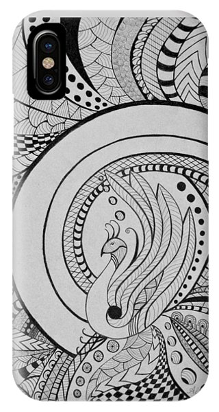 Psychedelic Peacock IPhone Case