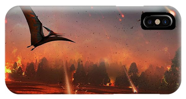 Pterosaurs And Mass Extinction Phone Case by Mark Garlick