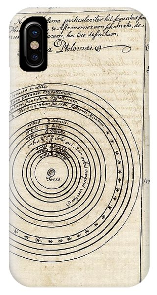 Earth Orbit iPhone Case - Ptolemaic World System by American Philosophical Society