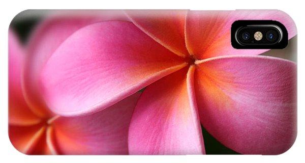 Pua Lei Aloha Cherished Blossom Pink Tropical Plumeria Hina Ma Lai Lena O Hawaii IPhone Case