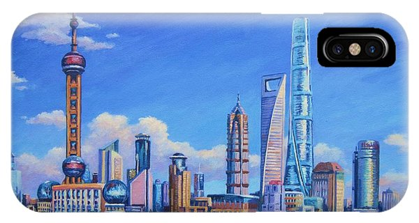 Hong Kong iPhone Case - Pudong Skyline  Shanghai by John Clark