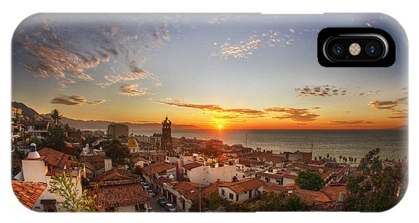 Adobe iPhone Case - Puerto Vallarta Sunset by Shanti Gilbert