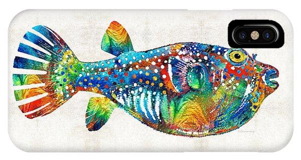 Scuba Diving iPhone Case - Puffer Fish Art - Blow Puff - By Sharon Cummings by Sharon Cummings