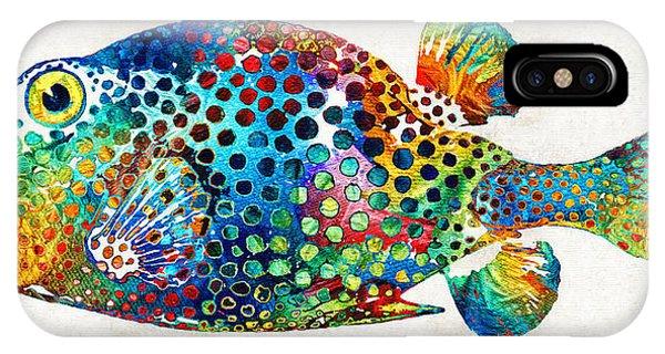 Dive iPhone Case - Puffer Fish Art - Puff Love - By Sharon Cummings by Sharon Cummings