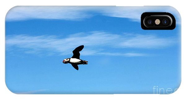 Puffin In Flight IPhone Case