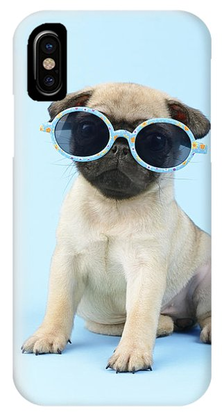 Pug iPhone X Case - Pug Cool by MGL Meiklejohn Graphics Licensing