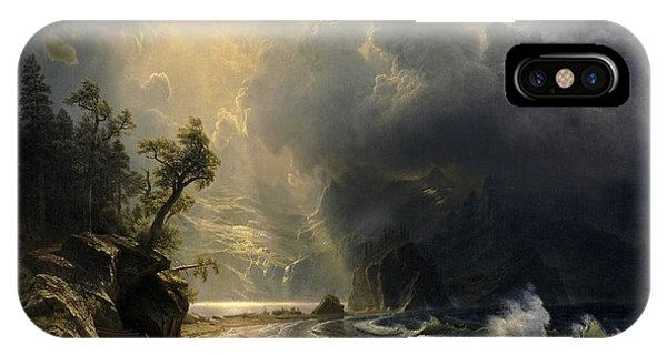 IPhone Case featuring the painting Puget Sound On The Pacific Coast by Albert Bierstadt