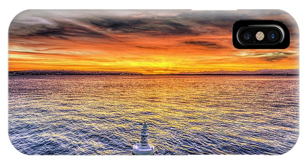 Puget Sound Sunset IPhone Case
