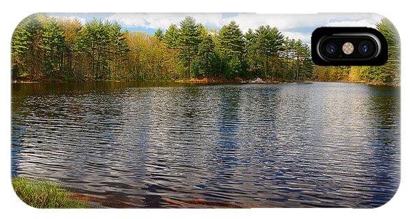 New England Barn iPhone Case - Pulaski Park by Lourry Legarde