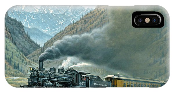 Landscape iPhone Case - Pulling For Silverton by Paul Krapf