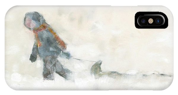 Pulling The Toboggan Home IPhone Case