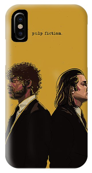 Contemporary iPhone Case - Pulp Fiction by Jeremy Scott
