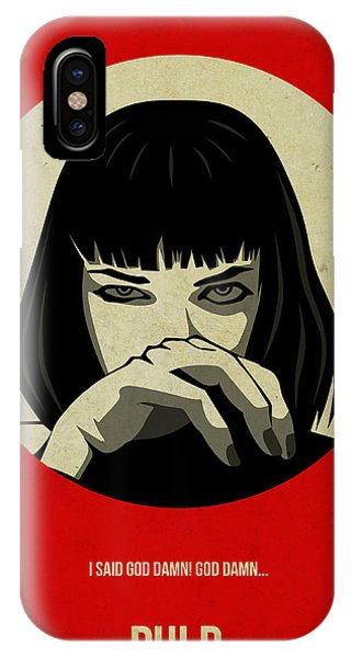 Movie iPhone Case - Pulp Fiction Poster by Naxart Studio