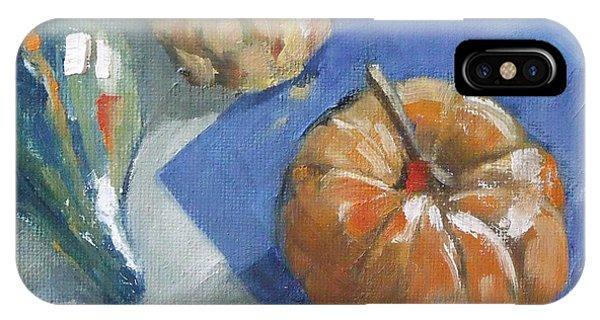 Pumpkin And Gourds Still Life IPhone Case