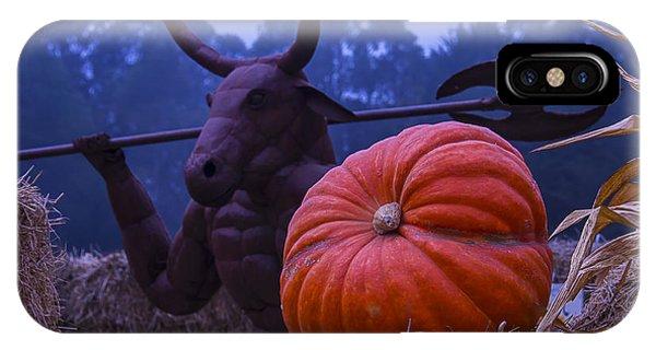 Minotaur iPhone Case - Pumpkin And Minotaur by Garry Gay