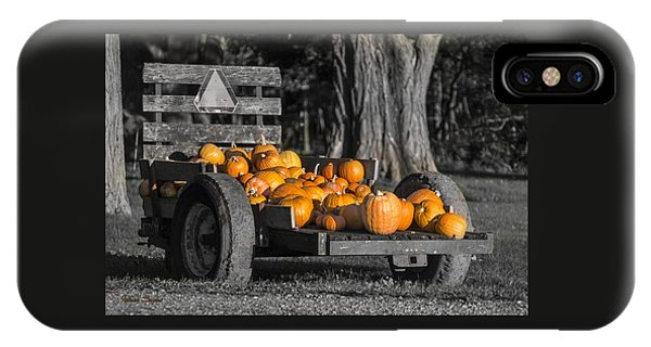 Pumpkin Cart IPhone Case