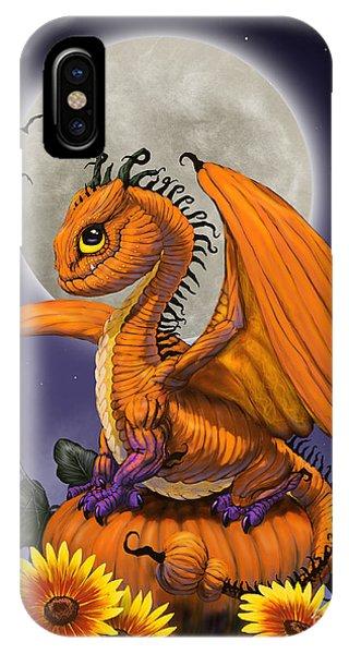 Pumpkin Dragon IPhone Case