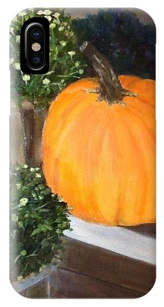 Pumpkin On Doorstep IPhone Case