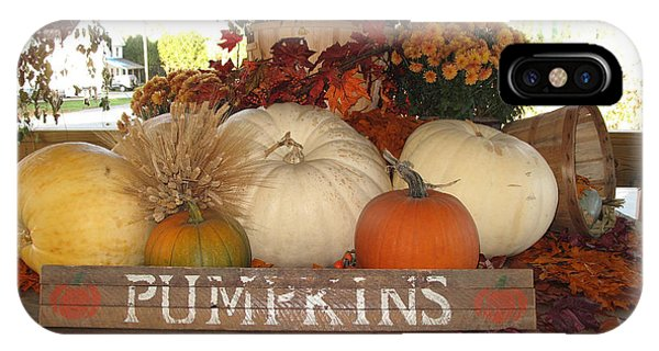 iPhone Case - Pumpkin Welcome  by Barbara McDevitt