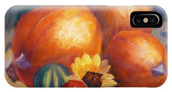 Pumpkins And Flowers IPhone Case