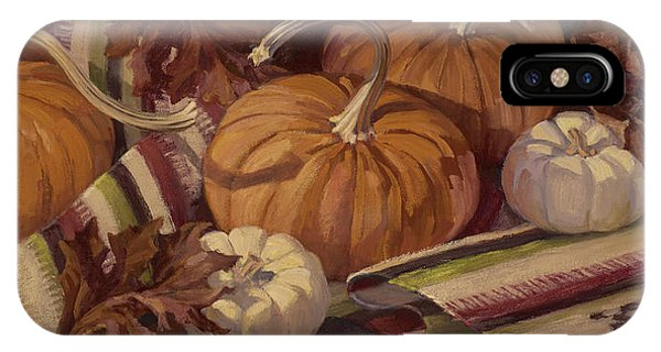Pumpkins And Leaves IPhone Case