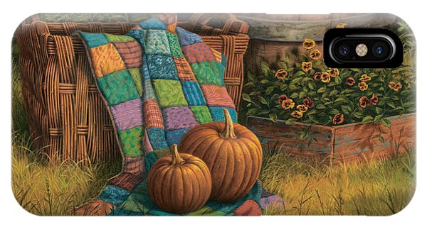 Basket iPhone Case - Pumpkins And Patches by Michael Humphries