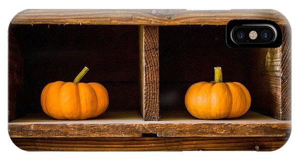 Pumpkins On Display IPhone Case