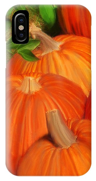 IPhone Case featuring the painting Pumpkins Pumpkins Everywhere by Deborah Boyd