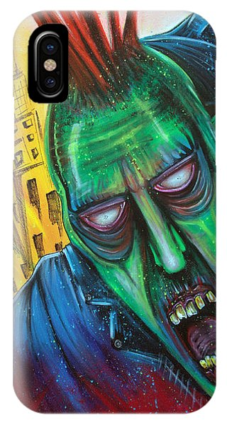 Punk Rock Zombie Phone Case by Laura Barbosa