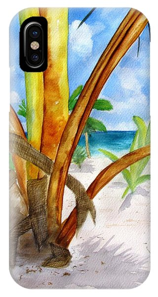 Punta Cana Beach Palm IPhone Case