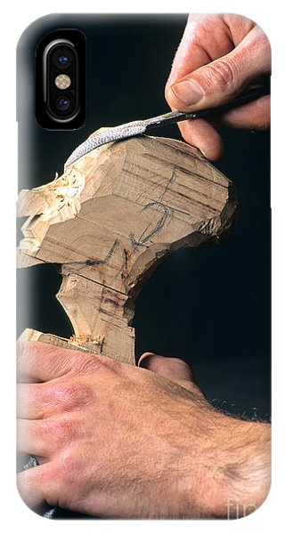 Craftsman iPhone Case - Puppet Being Carved From Wood by Bernard Jaubert
