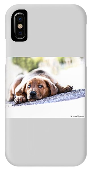 IPhone Case featuring the photograph Puppet Dog by Stwayne Keubrick