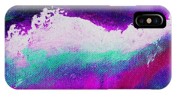 Pura Aqua Green Pink Phone Case by L J Smith