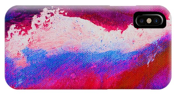 Pura Red Blue Phone Case by L J Smith