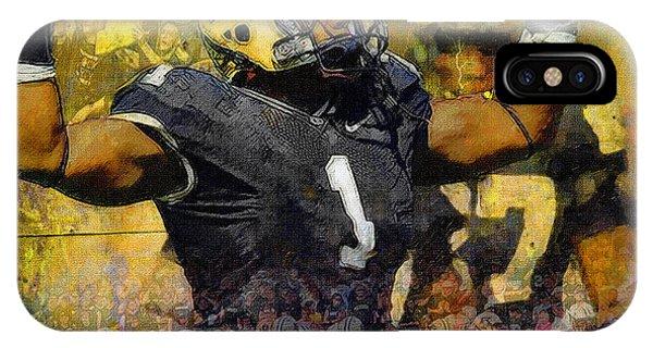 Purdue Boilermakers iPhone Case - Purdue Football by John Farr