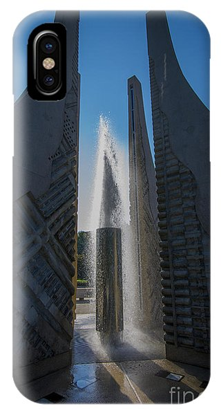 Purdue Boilermakers iPhone Case - Purdue Mall Water Fountain by David Haskett II