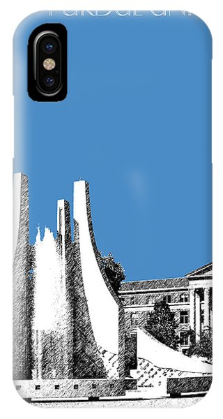 Purdue Boilermakers iPhone Case - Purdue University 2 - Engineering Fountain - Slate by DB Artist