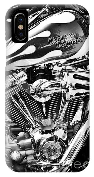 Harley iPhone Case - Pure Harley Chrome by Tim Gainey