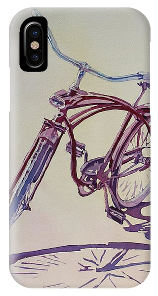Bicycle iPhone X Case - Pure Nostalgia  by Jenny Armitage