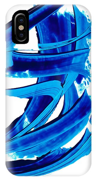 Pure Water 304 - Blue Abstract Art By Sharon Cummings IPhone Case