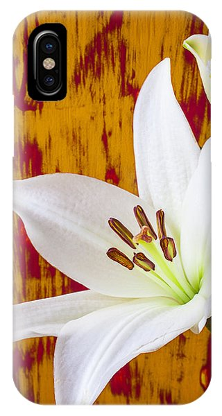 Pure White Lily IPhone Case