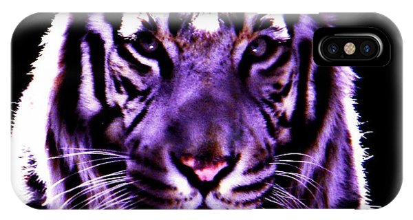 Purle Tiger IPhone Case