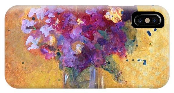 Violet iPhone Case - Purple Abstract by Nancy Merkle