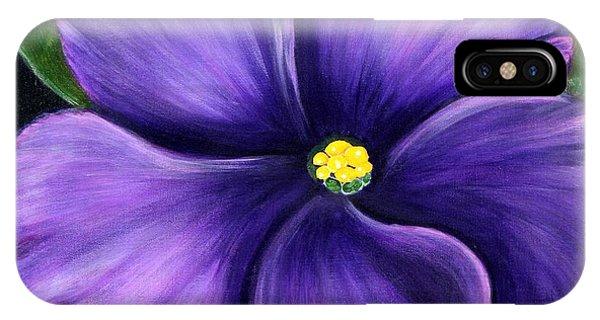 Purple African Violet IPhone Case